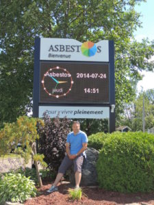 Managing Director of Core Surveys Visits The Town Of Asbestos in Canada